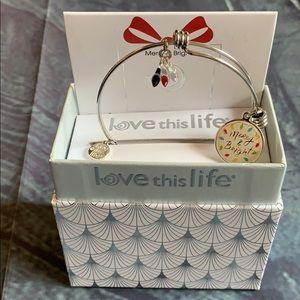 "Love this Life ""Merry & Bright"" charm bracelet"